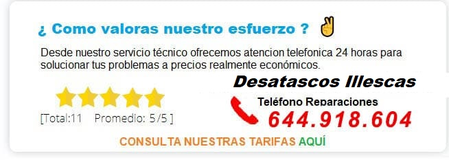 servicios de desatascos Illescas